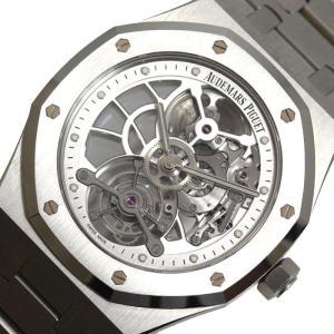 オーデマ・ピゲ AUDEMARS PIGUET ロイヤルオーク トゥールビヨン エクストラ シン オープンワーク 手巻き スケルトン メンズ 腕時計(中古)|ookura7815