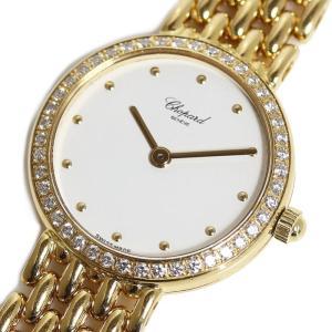ショパール Chopard クラシック 10/5911 クォーツ 金無垢 ダイヤベゼル レディース 腕時計(中古)|ookura7815
