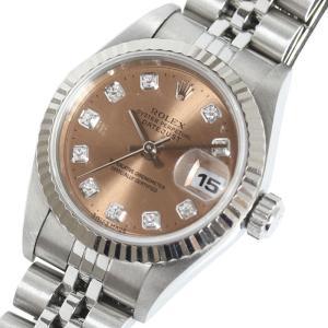 ロレックス ROLEX デイトジャスト 69174 ピンク 10Pダイヤ 自動巻 レディース 腕時計(中古)|ookura7815