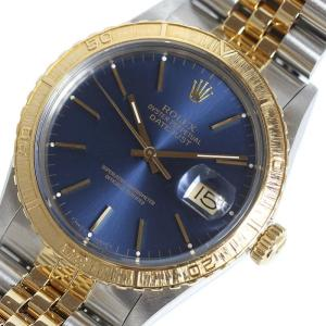ロレックス ROLEX デイトジャスト サンダーバード 16253 YG/SS ブルー メンズ 自動巻 腕時計(中古)|ookura7815