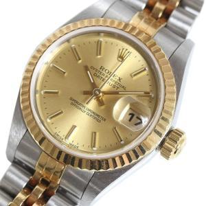 ロレックス ROLEX デイトジャスト 79173 YG/SS シャンパン Y番 レディース 自動巻き 腕時計 (中古)|ookura7815
