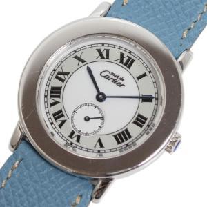 カルティエ Cartier マストラウンド SV925 クォーツ レディース メンズ 腕時計(中古)|ookura7815