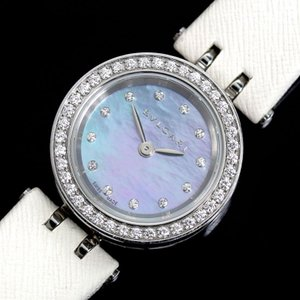 ブルガリ BVLGARI B.zero1 BZ23S ビーゼロワン クォーツ ダイヤモンド ブルーシェル レディース 腕時計(中古)|ookura7815