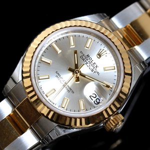 ロレックス ROLEX デイトジャスト 279173 自動巻き K18SS シルバー ルーレット ランダム レディース 腕時計(未使用)|ookura7815