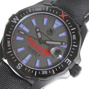 タグホイヤー TAG HEUER アクアレーサーファントムワンピーススペシャルエディション WAY218D PVD 自動巻き メンズ 腕時計(中古)|ookura7815