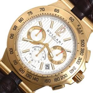 ブルガリ BVLGARI ディアゴノ プロフェッショナル テラ DP42C6GLDCH 自動巻き 金無垢 クロノグラフ メンズ 腕時計(中古)|ookura7815