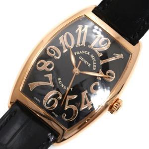 フランクミュラー FRANCK MULLER トノウ カーベックス サンセット 2852SC 自動巻き PG無垢 ブラック メンズ 腕時計(中古)|ookura7815