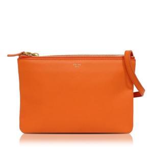 セリーヌ CELINE トリオ 165113 オレンジ ショルダーバッグ レディース(中古)|ookura7815