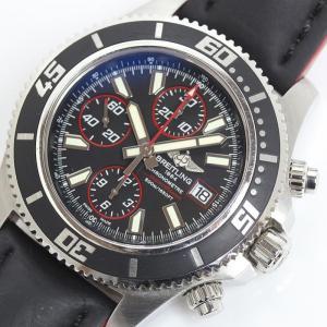ブライトリング BREITLING スーパーオーシャンクロノグラフ A110B81PRS/A13341 500M防水 自動巻 メンズ 腕時計(中古)|ookura7815