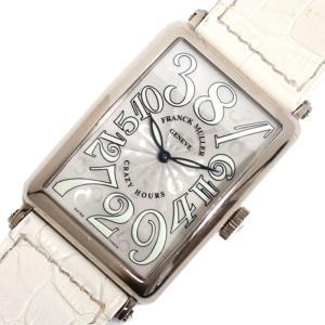 フランクミュラー FRANCK MULLER ロングアイランド クレイジーアワーズ 1200CH 自動巻き WG無垢 メンズ 腕時計(中古)|ookura7815
