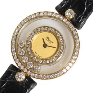 ショパール Chopard ハッピーダイヤモンド 20/3957 金無垢 ダイヤベゼル クォーツ 腕時計 レディース(中古)|ookura7815