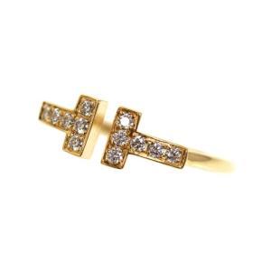 ティファニー TIFFANY&CO ティファニーT ワイヤーリング K18YG ダイヤモンド レディース 指輪 ジュエリー(中古)|ookura7815