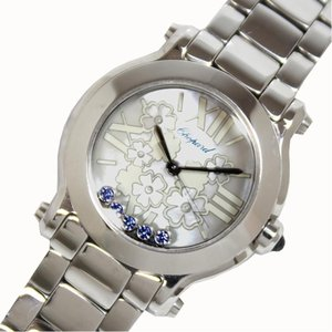 ショパール Chopard ハッピースポーツ マークII ミニハッピーブロッサム クォーツ サファイア レディース 腕時計(中古)|ookura7815