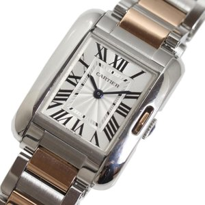 カルティエ Cartier タンクアングレーズSM W5310036 PG/SS クォーツ レディース 腕時計(中古)|ookura7815