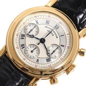 フランクミュラー FRANCK MULLER ラウンド ダブルフェイス クロノグラフ 7000DF 自動巻き 金無垢 メンズ 腕時計(中古)|ookura7815