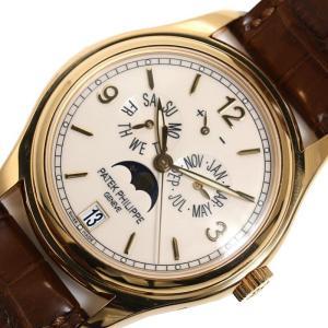 パテック・フィリップ PATEK PHILIPPE アニュアルカレンダー 5146J-001 自動巻き 金無垢 ムーンフェイズ メンズ 腕時計(中古)|ookura7815