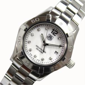 タグホイヤー TAG HEUER アクアレーサー WAF1415 クォーツ シェル ダイヤ レディース 腕時計(中古)|ookura7815