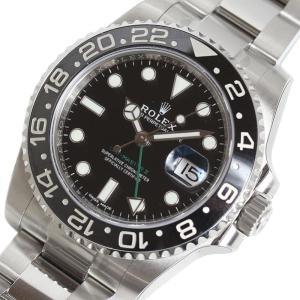 ロレックス ROLEX GMTマスター2 116710LN ランダム ブラック メンズ 自動巻き 腕時計 (中古)|ookura7815