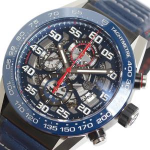 タグホイヤー TAG HEUER カレラ キャリバーホイヤー01 レッドブル レーシング CAR2A1N.FT6100 ブルー 自動巻 メンズ 腕時計 (中古)|ookura7815