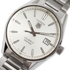 タグホイヤー TAG HEUER カレラキャリバー5 WAR211B.BA0782 シルバー 自動巻き メンズ 腕時計(中古)|ookura7815