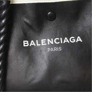 バレンシアガ BALENCIAGA ネイビーカバス レザー ブラック ハンドバッグ (中古) ookura7815 05