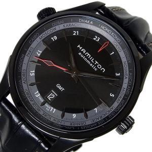 ハミルトン HAMILTON ジャズマスターGMT BLACK H32685731 ブラック 腕時計...