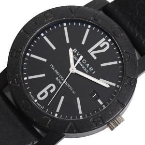 ブルガリ BVLGARI ブルガリブルガリ カーボンゴールド BB40CL 自動巻き ブラック メンズ 腕時計(中古)|ookura7815