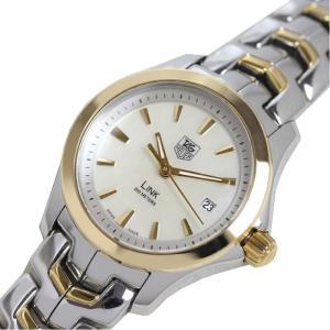 タグホイヤー TAG HEUER リンク LINK WJF1352 クォーツ K18SS シェル レディース 腕時計(中古)|ookura7815
