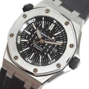 オーデマ・ピゲ AUDEMARS PIGUET ロイヤルオーク オフショアダイバー 15703ST.OO.A002CA.01 ブラック 自動巻き メンズ 腕時計(中古)|ookura7815