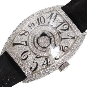 フランクミュラー FRANCK MULLER トノウ カーベックス ダブルミステリー 8880DMDCD 自動巻き WG無垢 ダイヤモンド メンズ 腕時計(中古)|ookura7815