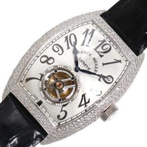 フランクミュラー FRANCK MULLER トノウ カーベックス トゥールビヨン 8880TD 手巻き WG無垢 ダイヤモンド メンズ 腕時計(中古)|ookura7815