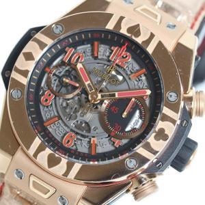 ウブロ HUBLOT ウニコ ワールドポーカーツアー キングゴールド411.OX.1180.LR.WPT15 自動巻き メンズ 腕時計 (中古)|ookura7815