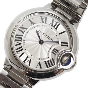 カルティエ Cartier バロンブルー ドゥ カルティエ  W6920084 クォーツ レディース 腕時計(中古)|ookura7815