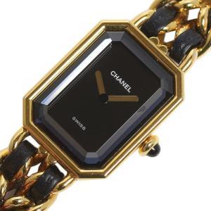 シャネル CHANEL プルミエールS H0001 GP×レザー ゴールド クォーツ レディース 腕時計(中古) ookura7815