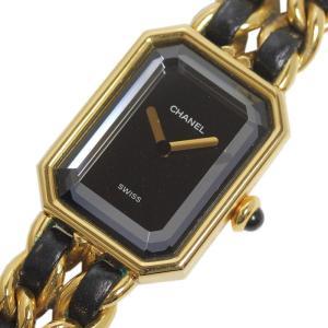 シャネル CHANEL プルミエールS ゴールド×レザー レディース クォーツ 腕時計(中古)|ookura7815