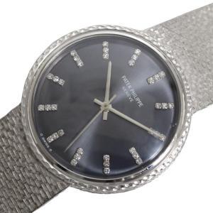 パテック・フィリップ PATEK PHILIPPE ラウンドウォッチ 手巻き WG無垢 ダイヤモンド メンズ 腕時計(中古)|ookura7815