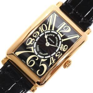 フランクミュラー FRANCK MULLER ロングアイランド 950QZ クォーツ PG無垢 メンズ レディース ブラック 腕時計(中古)|ookura7815