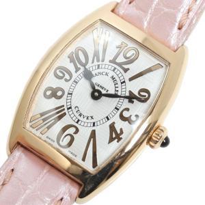 フランクミュラー FRANCK MULLER トノーカーベックス アンサンブル 1752QZ PG無垢 クォーツ レディース 腕時計(中古)|ookura7815