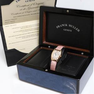 フランクミュラー FRANCK MULLER トノーカーベックス アンサンブル 1752QZ PG無垢 クォーツ レディース 腕時計(中古)|ookura7815|05