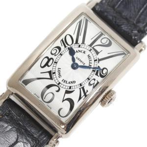 フランクミュラー FRANCK MULLER ロングアイランド 902QZ WG無垢 シルバー クォーツ レディース 腕時計(中古)|ookura7815