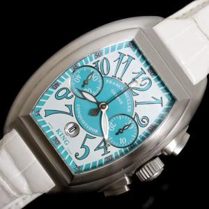 フランクミュラー FRANCK MULLER コンキスタドール クロノグラフ キング コスタ スメラルダ 8005CC KING 自動巻き メンズ 腕時計(中古)|ookura7815