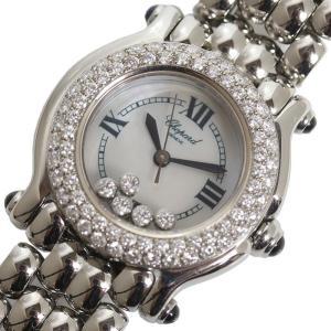 ショパール Chopard ハッピースポーツSM 27/8294-23 SS/WGベゼル ダイヤベゼル クォーツ レディース 腕時計 (中古)|ookura7815
