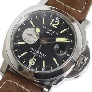 パネライ PANERAI ルミノール GMT オートマティック アッチャイオ 44ミリ PAM01088 自動巻き メンズ 腕時計(中古)|ookura7815