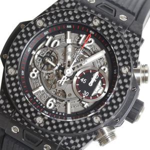 ウブロ HUBLOT ビッグバン ウニコ カーボン 411.QX.1170.RX スケルトン 自動巻き メンズ 腕時計(中古)|ookura7815