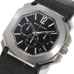 ブルガリ BVLGARI オクト クロノグラフ BGO41BSLDCH 自動巻き レザーベルト メンズ 腕時計(中古)|ookura7815