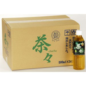 新潟 胎内緑茶 茶々 500ml×48本 ペットボトル送料無料|ookuratakarabori