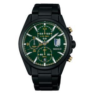 セイコー ワイアード AGAT714 メンズ 腕時計 進撃の巨人 リヴァイ シグネチャー 限定モデル SEIKO WIRED 電池式 クオーツ 新品|oomoritokeiten