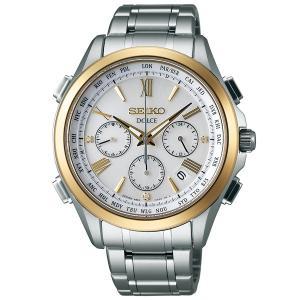 セイコー ドルチェ SADA032 メンズ 腕時計 コンフォテックス チタン SEIKO クロノグラフ ソーラー電波時計 新品|oomoritokeiten