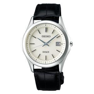セイコー ドルチェ SADM009 メンズ 腕時計 コンフォテックス チタン ダイヤシールド 黒色ワニ革バンド SEIKO ソーラー時計 新品|oomoritokeiten