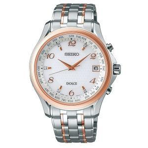 セイコー ドルチェ SADZ204 メンズ 腕時計 2018 いい夫婦の日 限定モデル SEIKO ソーラー電波時計 コンフォテックス チタン 新品|oomoritokeiten
